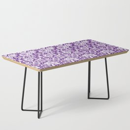 "William Morris Floral Pattern | ""Pink and Rose"" in Purple and White Coffee Table"