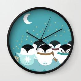 Penguin light Wall Clock