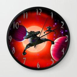 Klingon Battle Cruisers Wall Clock