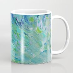 SEA SCALES - Beautiful Ocean Theme Peacock Feathers Mermaid Fins Waves Blue Teal Color Abstract Mug