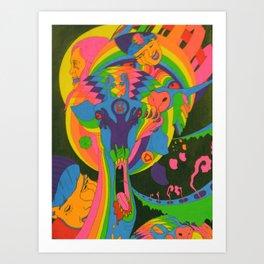 This Here Giraffe Art Print
