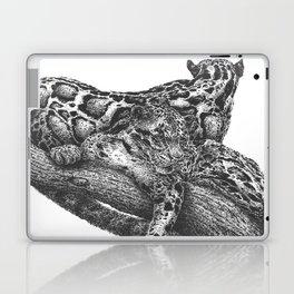 Clouded Leopard Double Image Laptop & iPad Skin