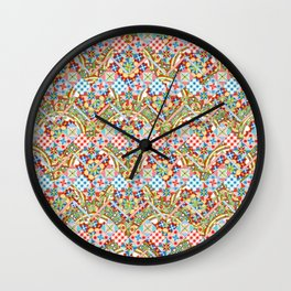Design Confections Pattern on Pattern II Wall Clock