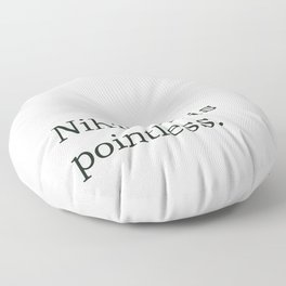 Philosophy\\Nihilism Floor Pillow