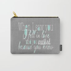 When I Saw You (Mint) Carry-All Pouch