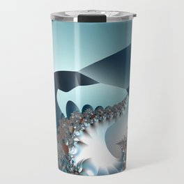 On the Edge of a Fantasy Landscape -- fractal art by Twigisle at Society6 Travel Mug