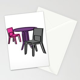Table & Chairs 01 Stationery Cards