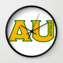 Abbreviated Australia Wall Clock