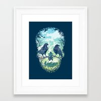 skull Framed Art Prints featuring Nature's Skull by Rachel Caldwell