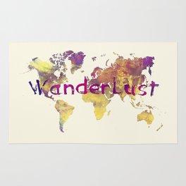 world map 90 wanderlust Rug
