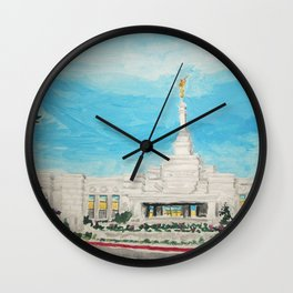 Reno Nevada LDS Temple Painting Wall Clock