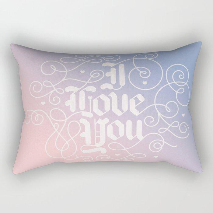 3 Little Words Rectangular Pillow