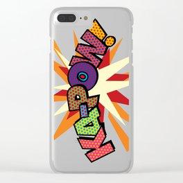 Comic Book Pop Art Sans KA-POW Clear iPhone Case