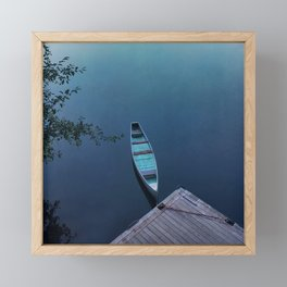 Blue Canoe Framed Mini Art Print