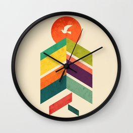Lingering Mountains Wall Clock