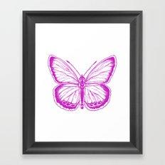 Butterfly - Violet - Beautiful - purple Framed Art Print
