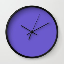 Slate blue - solid color Wall Clock