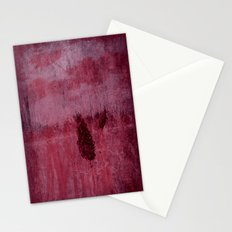 Red is Winter ~ Abstract Stationery Cards