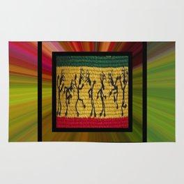 lively up reggae dancers (square) Rug