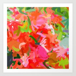 Preconceived Blossom #abstract #painting Art Print