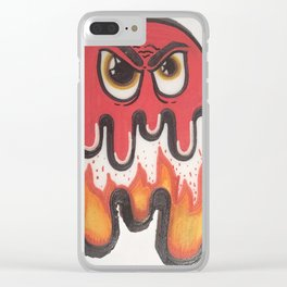 Flame Blob Clear iPhone Case