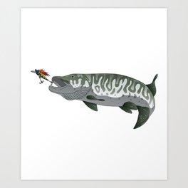 I Fish Muskies Everthing Else Is Bait Musky Pike Art Print