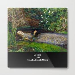 "John Everett Millais, "" Ophelia "" Metal Print"