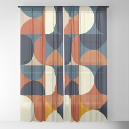 mid century abstract shapes fall winter 1 Sheer Curtain