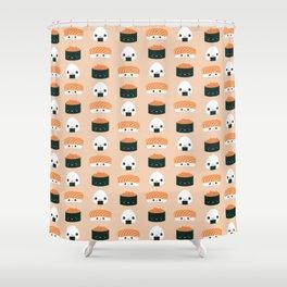 Salmon Dreams in peach, large Shower Curtain