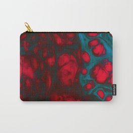 Swirls and cells in red and blue Carry-All Pouch