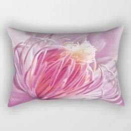 Clematis pink macro 086 Rectangular Pillow