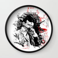 tesla Wall Clocks featuring Nikola Tesla by viva la revolucion