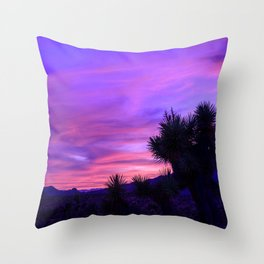 Desert Sunset - Mormon Mountains Wilderness, Nevada Throw Pillow