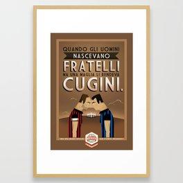 Poster Nostalgica - Fratelli Baresi Framed Art Print