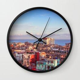 Old Havana at Morning Wall Clock