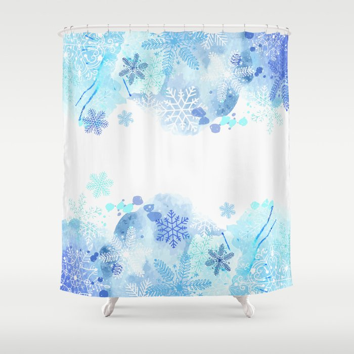 Snowflakes Shower Curtain By Orcevasilev