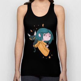 Twitchy, Witchy Girl Unisex Tank Top