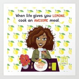 Life + Lemons Art Print