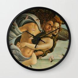 "Sandro Botticelli ""The Birth of Venus"" 3. Zephyr and his companion Wall Clock"