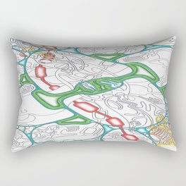 Emerald Reflection Rectangular Pillow