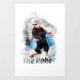 The Rebel Gokhan Saki in Training- Abstract Multi Colors Illustration MMA T-Shirt Art Print