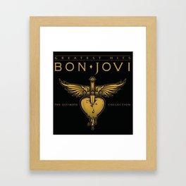 BON JOVI TOUR DATES 2019 RATUGONTOR B Framed Art Print