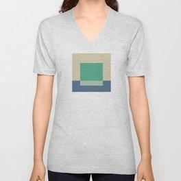 Green Square Unisex V-Neck