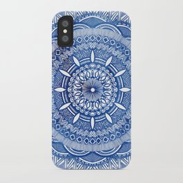 Calming Blue Mandala iPhone Case