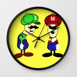 Bros Wall Clock
