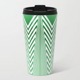 Art Deco Geometric Arrowhead Mint Green Design Travel Mug