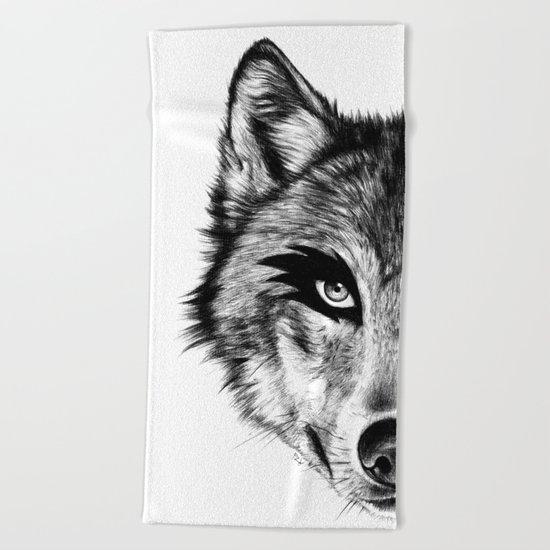 The Wolf Next Door Beach Towel