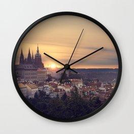 Sunrise in Prague Wall Clock