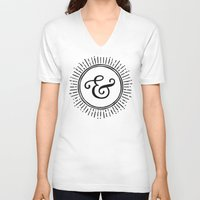 ampersand V-neck T-shirts featuring Ampersand by creative index