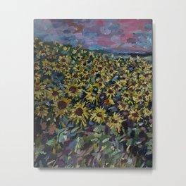 Sunflower Fields in Tunkhannock Metal Print